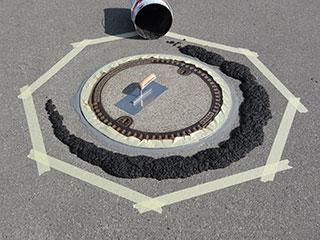 RoadPlast 2K ReparaturMörtel Kelle