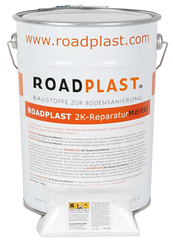 RoadPlast Eimer mit 2K-ReparaturMörtel